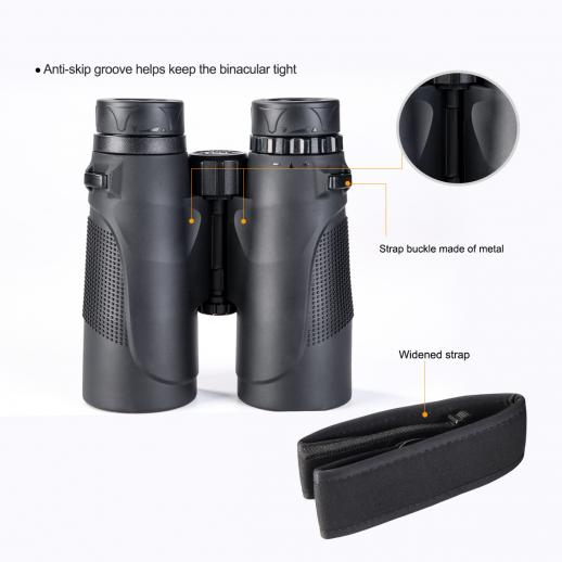10 x 42 HD Binoculars BAK4 for Watching Birding Hunting