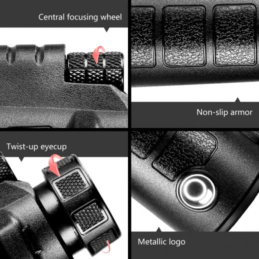 10 X 42 Monocular Waterproof Fogproof for Birding Travelling