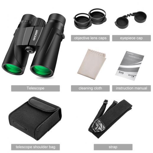 8 X 42 Binoculars BAK4 Waterproof for Outdoor Watching