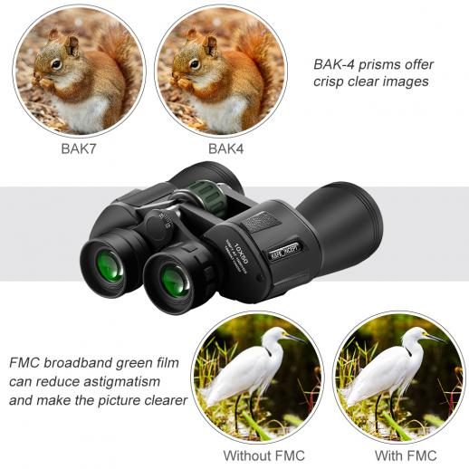 10 X 50 Binoculars for Outdoor Watching