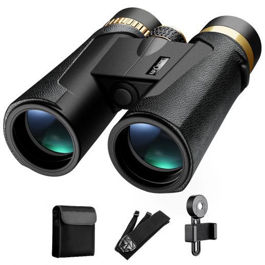 K&F Concept HY1242 12x42双眼鏡、20mmラージビュー接眼レンズ、BAK4クリアライトビジョン、バードウォッチング、ハンティング、スポーツ用
