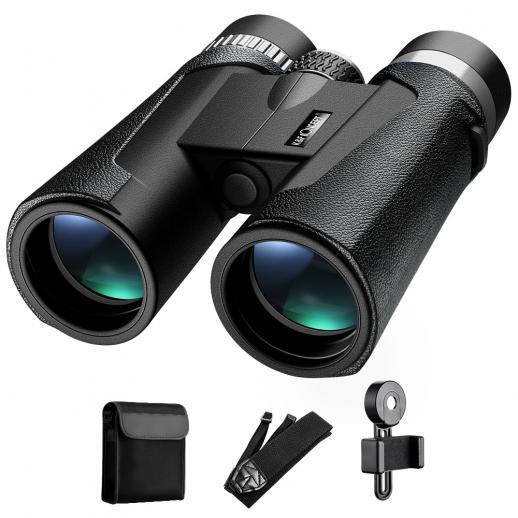 K&F Concept HY1242A 12x42双眼鏡、20mmラージビュー接眼レンズ、BAK4クリアライトビジョン、バードウォッチング、ハンティング、スポーツ用
