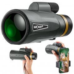 YH1250 12*50 Compact Monocular IP65 Waterproof High Power Easy Focus Monocular for Bird Watching Outdoor Hunting Travel Sightseeing