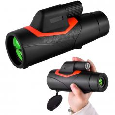 12x42 HD Monocular with Phone Holder & Tripod BAK Prism for Hunting Bird Watching Hiking