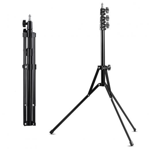 "K&Fコンセプトライトスタンド210cm / 82.68 ""、リングライト、ソフトボックス、リフレクター、フラッシュライト、その他の写真照明用の調整可能な合金写真ライトスタンド三脚"