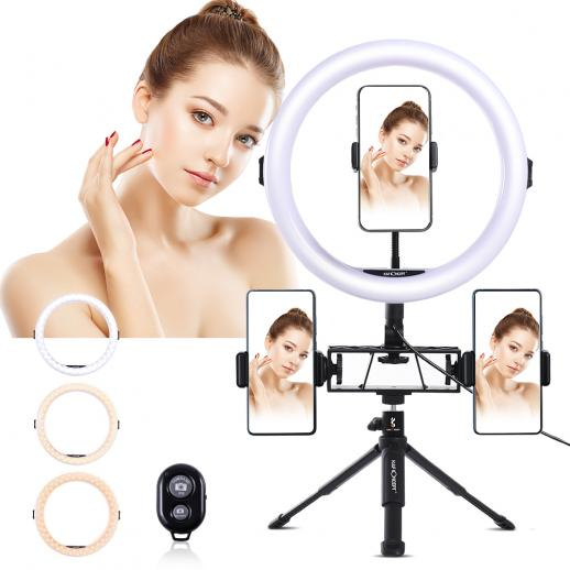 11 inch Selfie Ring Light with Stand Phone Holder for Vlog Camera Video Smartphone YouTube Self-Portrait Makeup Shooting