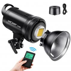 St-60w Photography Light With Remote Control Dimmable Continuous Lighting with Bowens Mount for Video Recording Wedding Outdoor Photography EU Plug