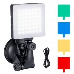 6500K Computer LED Video Light with Suction Cup, 4 Color Filters for Remote Working,Zoom Meeting, Self Broadcasting, Vlogging and Make Up