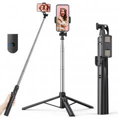 A31 1.55M Floor-standing Mobile Phone Holder with Bluetooth Remote Control