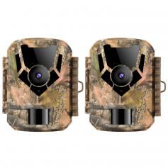 2PCS DL201 16MP 1080P Trail Camera 0.4s Trigger Time HD Outdoor Waterproof Hunting Infrared Night Vision Mini Game Camera