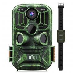 24MP 1296P HD WiFi Trail Camera 5 Million Sensor Outdoor Wildlife Monitoring Waterproof Night Infrared Vision Hunting Camera