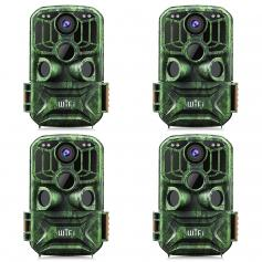 KF-401F Dark green 5 million sensor 24MP/0.4 seconds start, 3 PIR, carry WIFI function HD outdoor waterproof hunting and hunting infrared night vision camera official website for sale (4pcs)