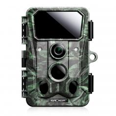 4K 30MP Trail Camera WiFi Game Camera 120° Angle Game Camera 0.3s Trigger Clear Night Vision, With 850nm 36 Infrared Lights 65 Feet, IP65 Waterproof Wildlife Camera (Green)