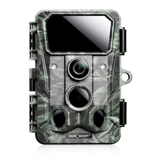 4K 30MPオフロードカメラゲームカメラ、ワイヤレスWi-fi Bluetoothオフロードカメラ、120°アングルゲームカメラ、0.3Sトリガークリアナイトビジョン、850nm 36赤外線ライト65フィート、IP65防水野生生物カメラ(緑)