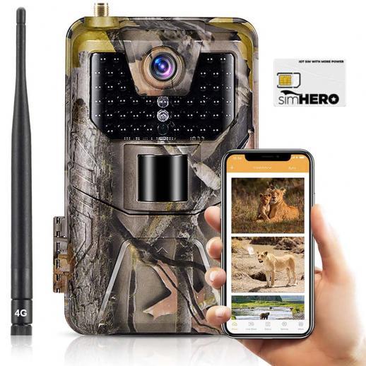 EU LTE 4G Trail Camera Free sim card Cellular Tracking Camera 30MP 4K Waterproof Game Hunting Camera