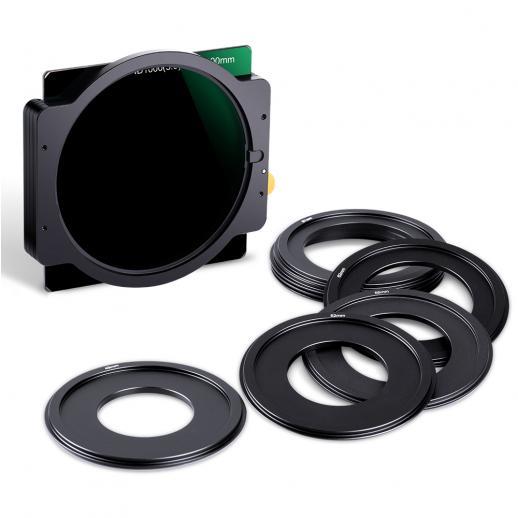 K&F SN25T1 ND1000 Filtro Quadrado 100x100mm + Suporte de Metal + 8pcs Anéis Adaptadores Para DSLR