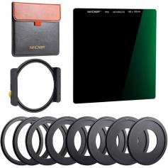 100x100mm Square Filter Kit ND1000 Square Filter + Metal Filter Holder + 8pcs Adapter Rings For DSLR