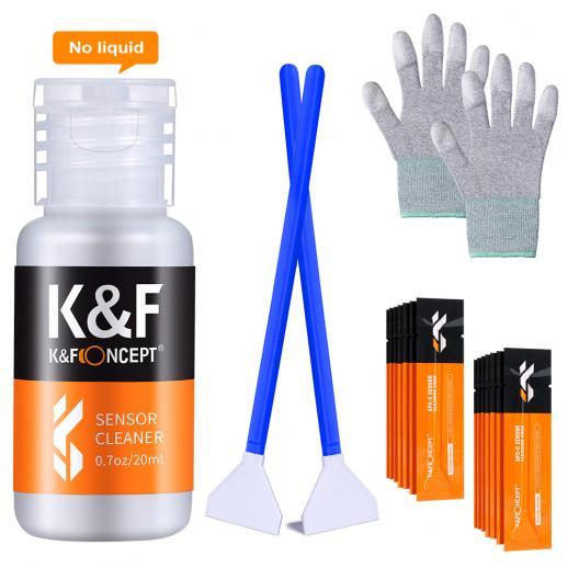 KF CK03 Conjunto de bastão de limpeza completo 24mm APS (bastão de limpeza 16PCS + Frasco de líquido de limpeza + um par de luvas de borracha de borracha sem pó de palma revestidas com PU)