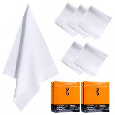Cleaning cloth set needle a dust-free cleaning cloth dry cloth white 15*15cm color box 6 pieces