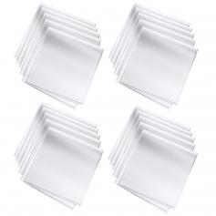 Microfiber Cleaning Cloth Dust-Free White for Glass, Lenses, Phones, Screens 15*15cm Pack of 20