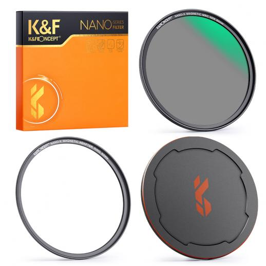 67mm ND8 Magnetic Lens Filter, HD Waterproof Scratch-Resistant Anti-Reflection, Nano-X Series