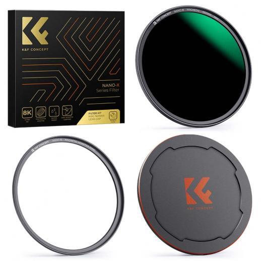 49MM、NANO-X-ND1000磁気フィルター、高解像度、防水、傷のつきにくい、反射防止グリーンフィルムでコーティング、磁気アタッチメントリングと磁気金属カバー付き