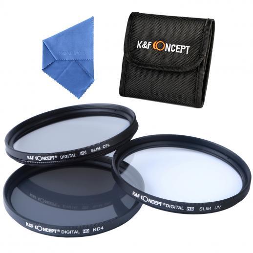 77mm Filter Set (UV, CPL, ND4)