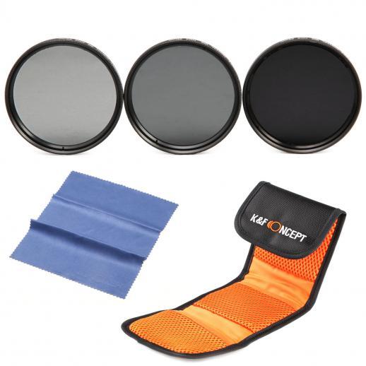 55mm Filter Set (ND2, ND4, ND8)