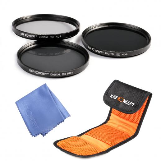 67mm ND2, ND4, ND8 Filtro Kit