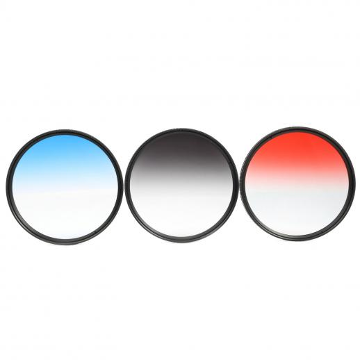 67mm Filter Set (Graduated Orange, Blue, Grey, Red, Purple, Green, Pink, Brown, Yellow)