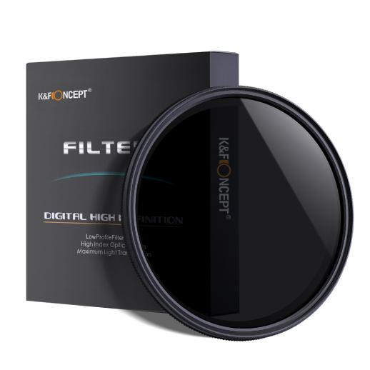K&F KV31 58mm ND2 to ND400 Variable ND Filter For Video
