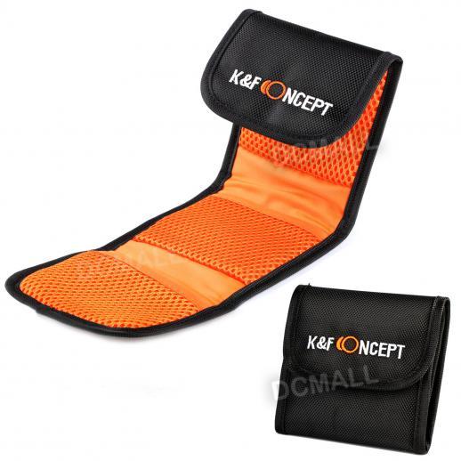 3 Pocket Lens Filter Bag Pouch Case