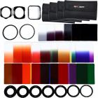 40 in 1 Square Graduated Color ND Filter Kit