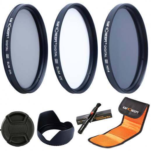 58mm Filter Set (UV, CPL, ND4)