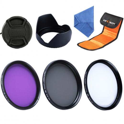 55mm UV, CPL, FLD Filtro Kit