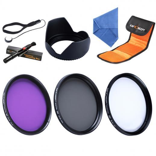 62mm UV, CPL, FLD Filtro Kit