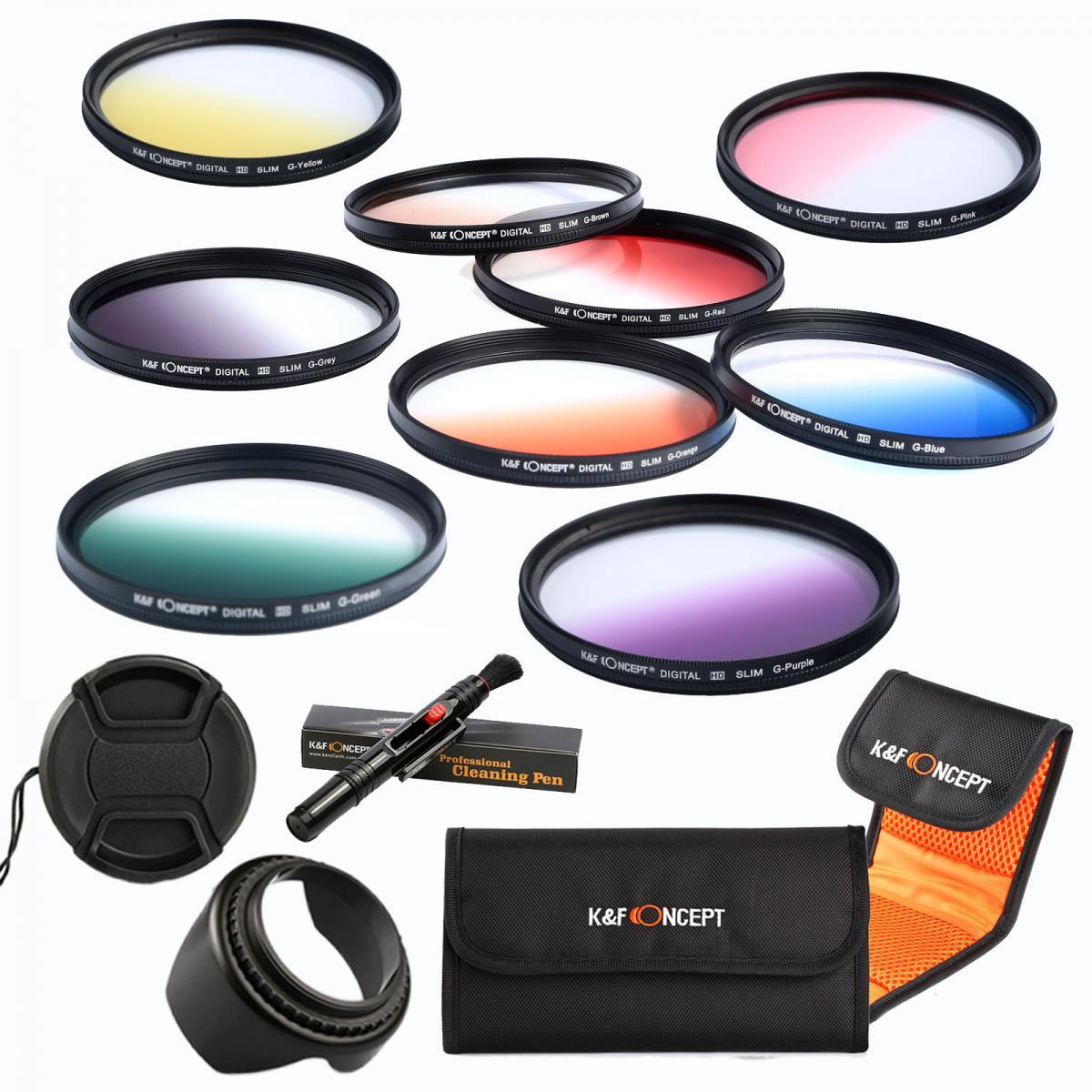 k amp f concept 58mm filter set graduated orange blue grey