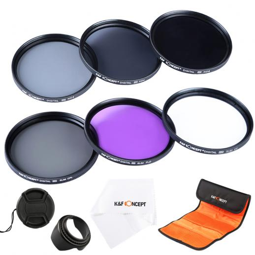 58mm Filtro Kit UV, CPL, FLD, ND2, ND4, ND8