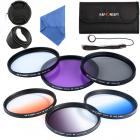 58mm Filter Set (UV, CPL, FLD, Graduated Blue, Orange, Gray)
