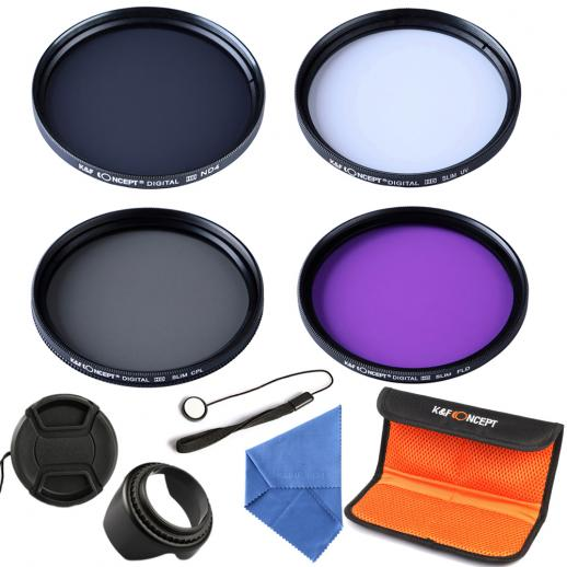 55mm Filter Set (UV, CPL, FLD, ND4)