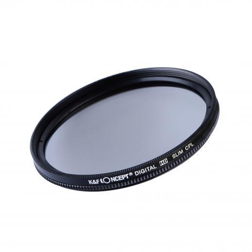 58mm HD 円 偏光 CPLフィルター+クリーニングクロス