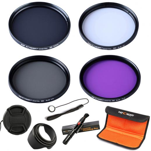 58mm Filter Set (UV, CPL, FLD, ND4,Brush)