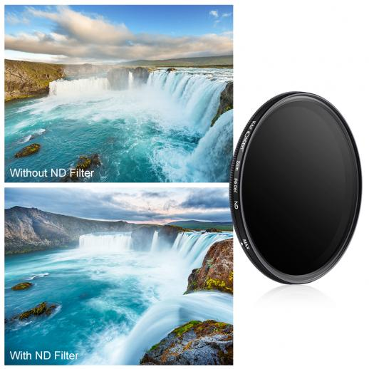 46mm ND2 to ND400 Variable Neutral Density ND Filter
