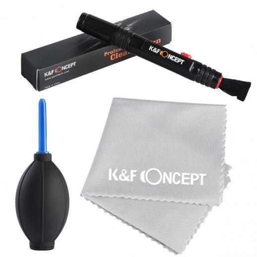 Kit de Limpeza 3 em 1: Caneta de Limpeza + Soprador + Pano de Microfibra