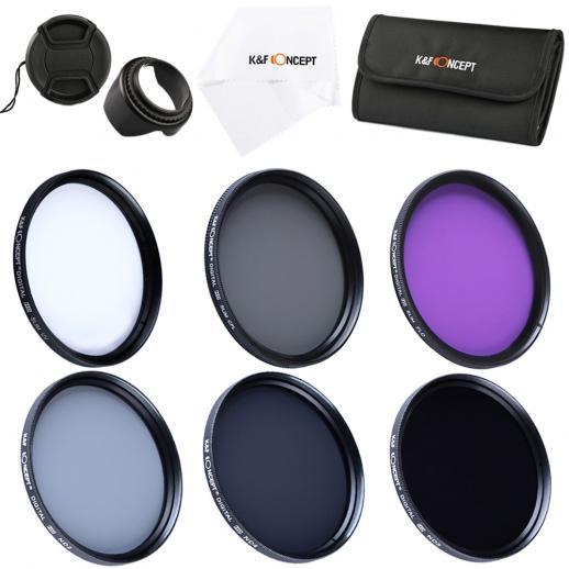 55mm Filter Set (UV, CPL, FLD, ND2, ND4, ND8)