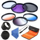 55mm Filter Set (UV, CPL, FLD, Graduated Blue, Orange, Grey)