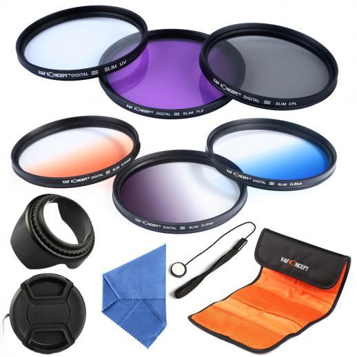 67mm Filtro Kit UV, CPL, FLD, Graduado Azul, Laranja, Cinza