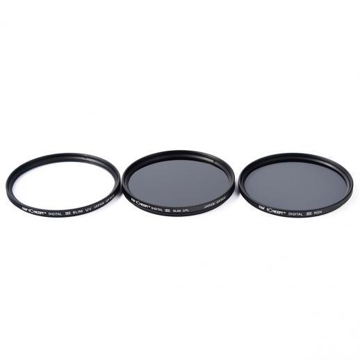 58mm 円偏光 CPL フィルター+クリーニングクロス+花形レンズフード