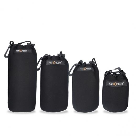 Soft Neoprene Lens Pouch Bag Case (S M L XL)