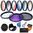 77mm Filter Set (UV, CPL, FLD, Graduated Blue, Orange, Grey, Red, Green, Brown)